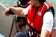 Your lifejacket is your friend – zip up, clip in and get on board
