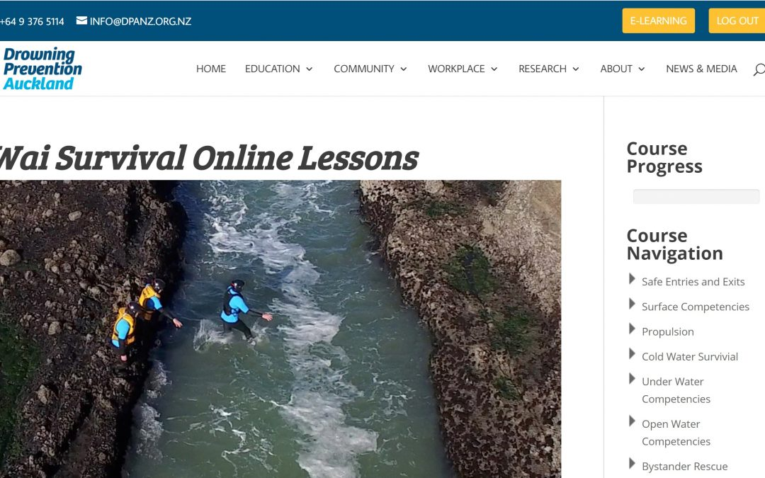 Press Release: Drowning Prevention Auckland launches brand new website and a New Zealand first eLearning platform
