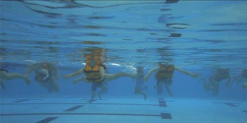 Survival breaststroke wearing a lifejacket